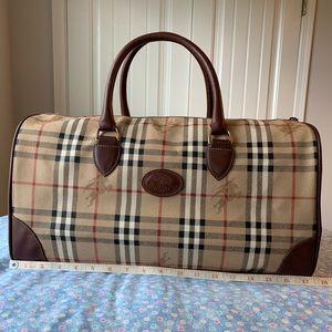 Authentic Burberry Canvas Duffle/Travel Bag